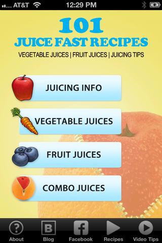 101 Juice Fast Recipes 1.0