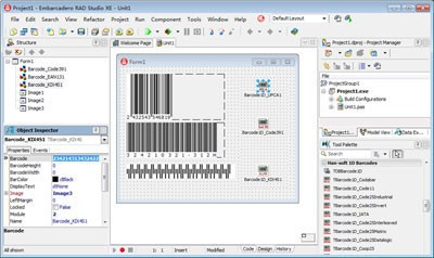 1D Barcode VCL Components 10.0.2.2183