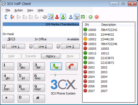 3CX FREE VOIP Phone for Windows 6.0