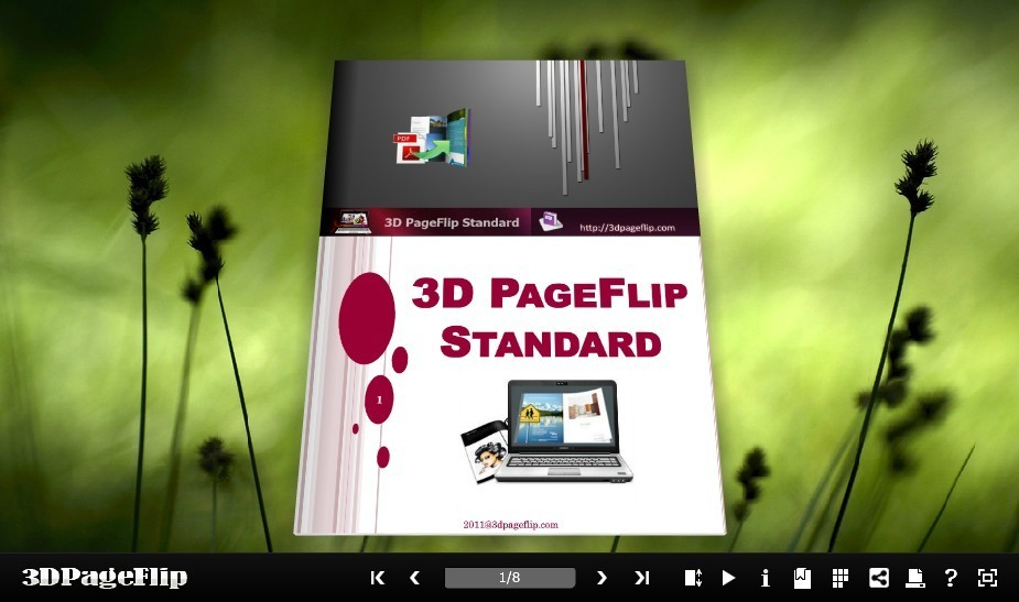 3D PageFlip Free Grass Templates 1.0