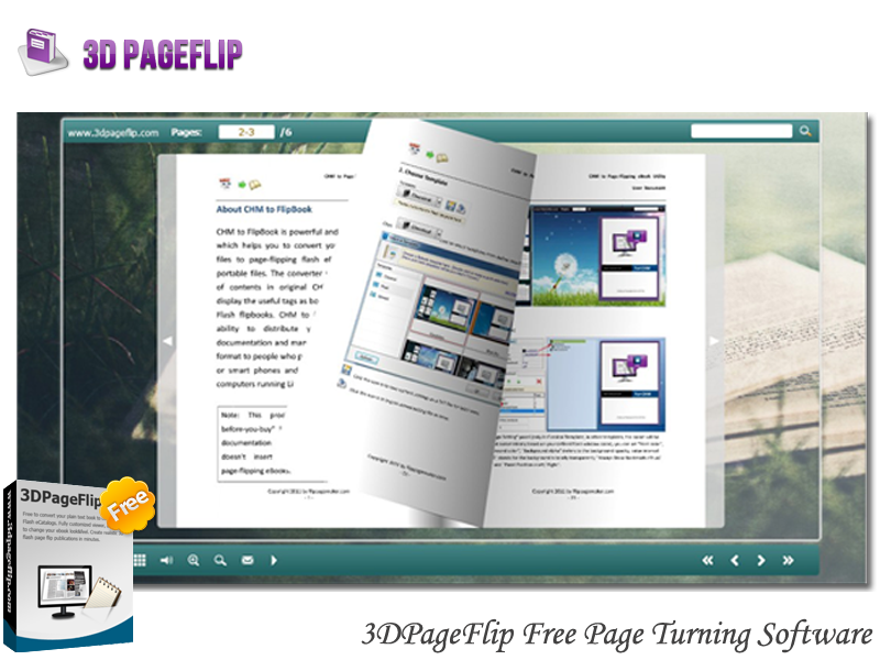 3DPageFlip Free Page Turning Software 1.0