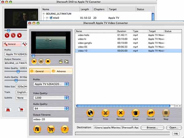 3herosoft DVD to Apple TV Suite for Mac 3.4.3.0309