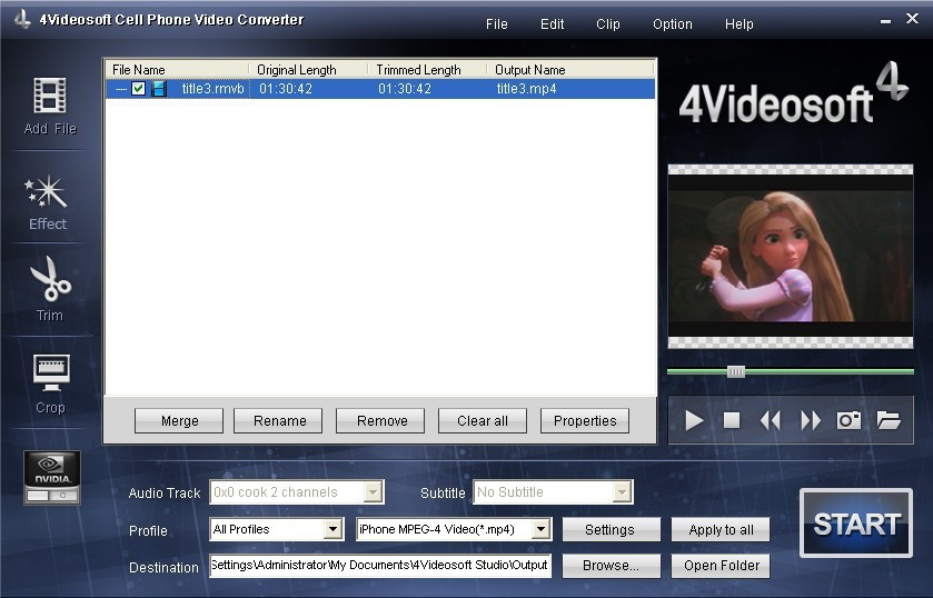 4Videosoft Cell Phone Video Converter 3.2.08