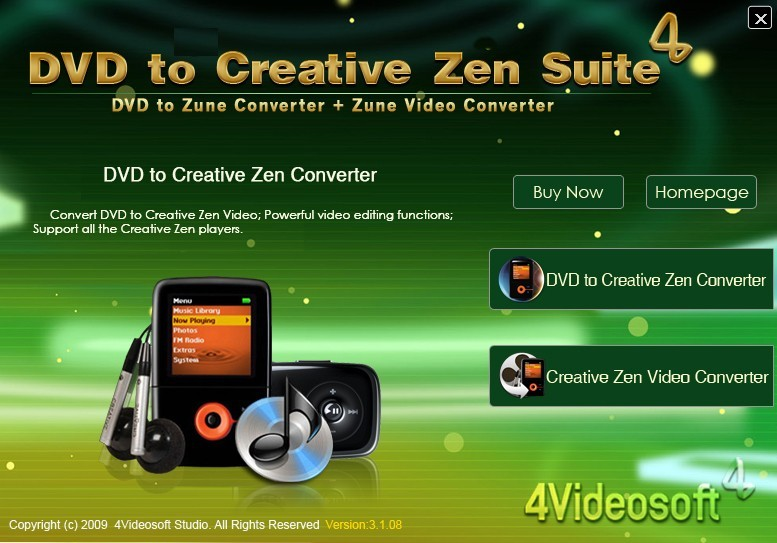 4Videosoft DVD to Creative Zen Suite 3.1.06
