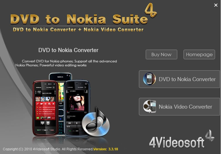 4Videosoft DVD to Nokia Suite 3.3.26