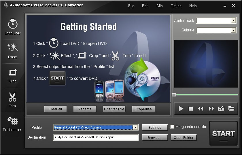 4Videosoft DVD to Pocket PC Converter 3.1.08
