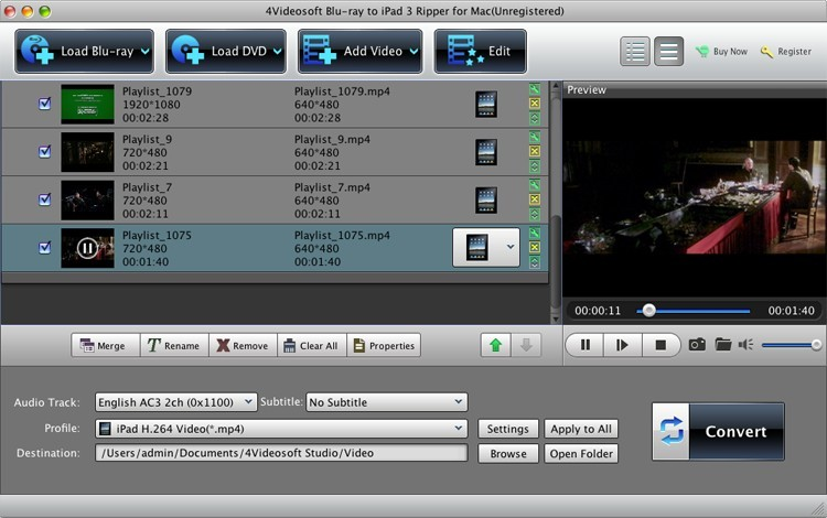 4Videosoft Mac Blu-ray to iPad 3 Ripper 5.0.18