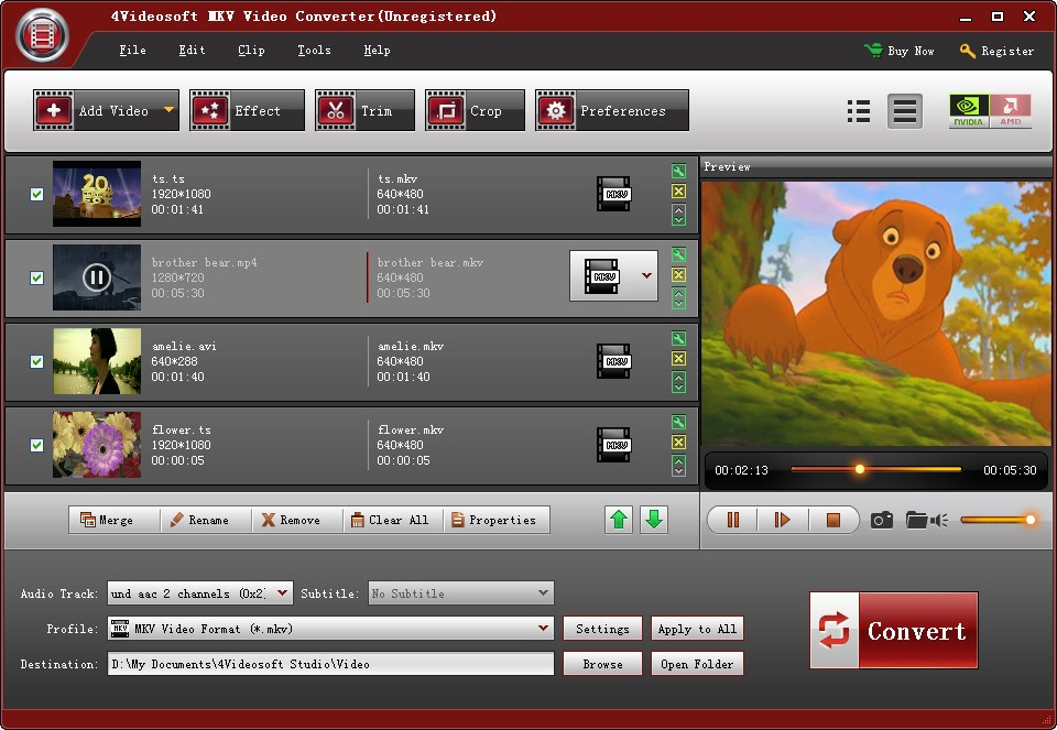 4Videosoft MKV Video Converter 5.2.88