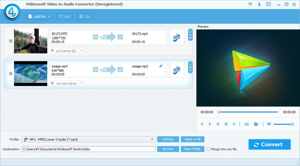 4Videosoft Video to Audio Converter 5.0.58