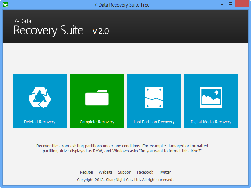 7-Data Recovery Suite Free Edition 2.0