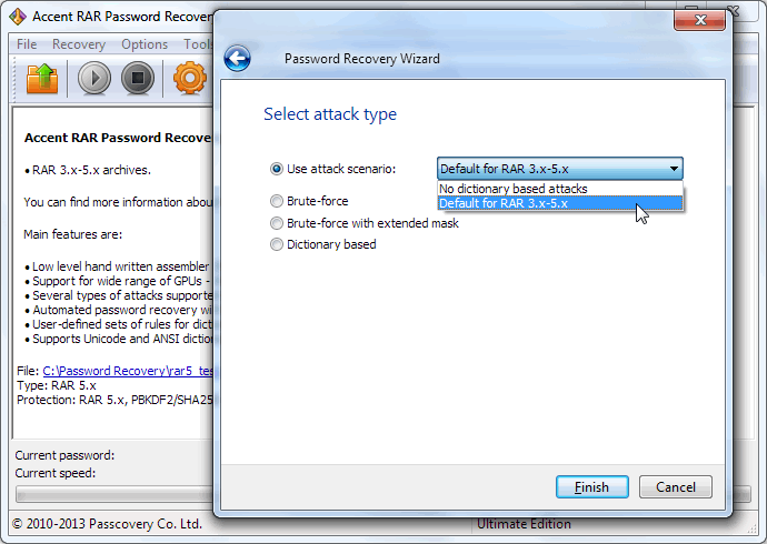 Accent RAR Password Recovery 3.3