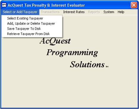 AcQuest Tax Penalty Interest Evaluator 2.23