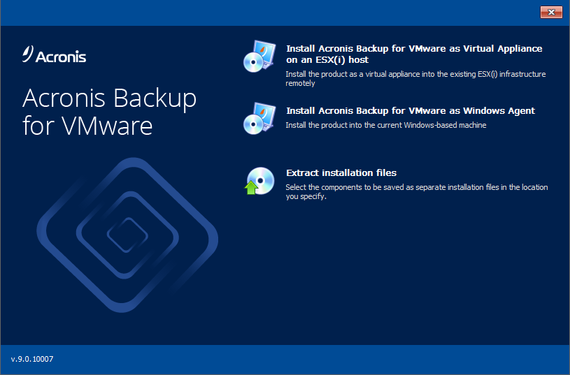 Acronis Backup for VMware 9.2.10571