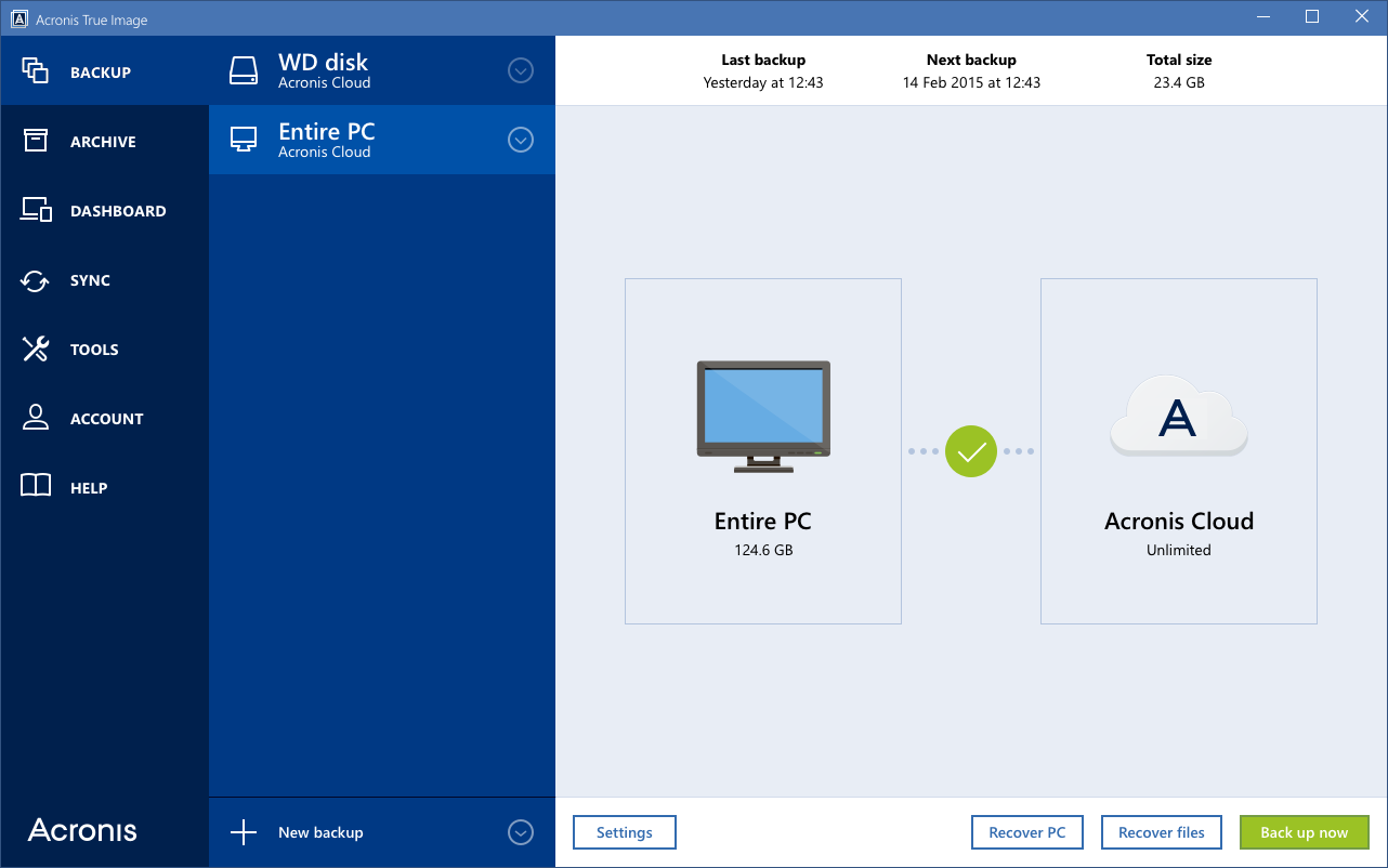 Acronis True Image Cloud 2.6571