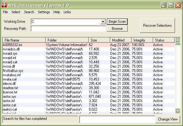 ADRC Data Recovery Express 1.0