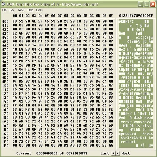ADRC Hard Disk Hex Editor 1.01