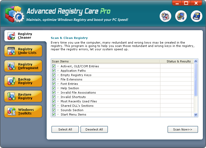 Advanced Registry Care Pro 1.09
