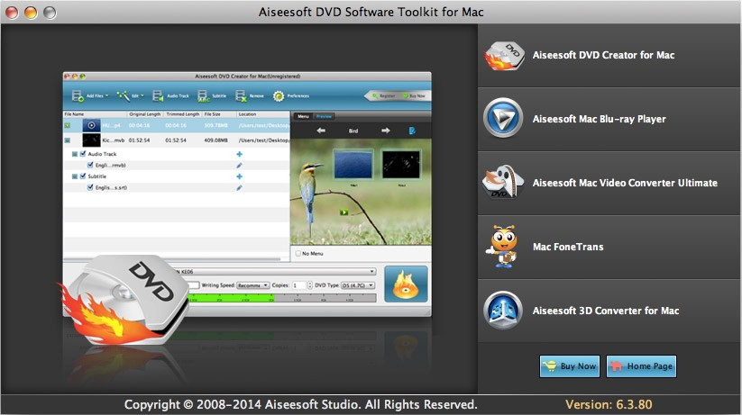 Aiseesoft DVD Software Toolkit for Mac 6.5.20