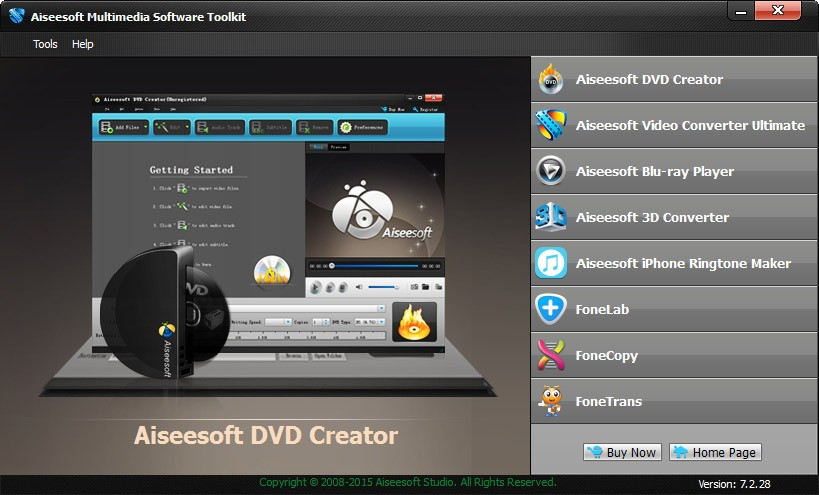 Aiseesoft Multimedia Software Toolkit 7.2.72