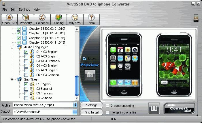 Ajiva DVD to iphone Converter 1.42