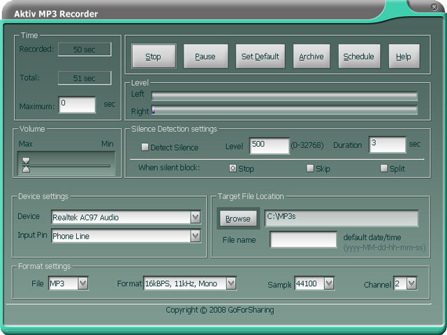 Aktiv MP3 Recorder 3.3.0