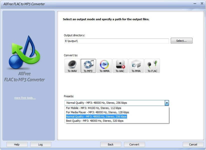 All Free FLAC to MP3 Converter 7.4.4