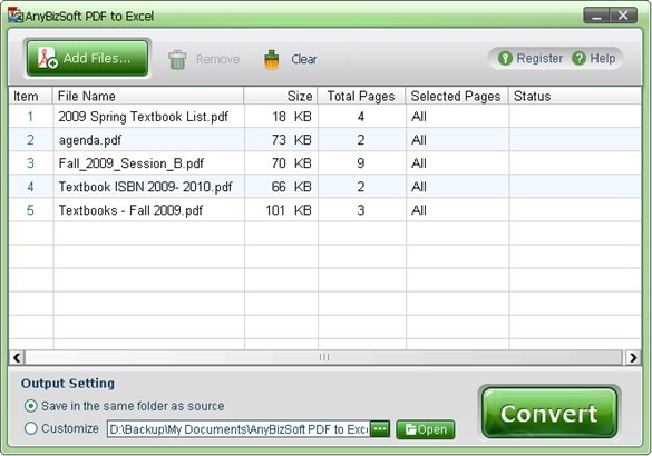 AnyBizSoft PDF to Excel Converter 1.0.0