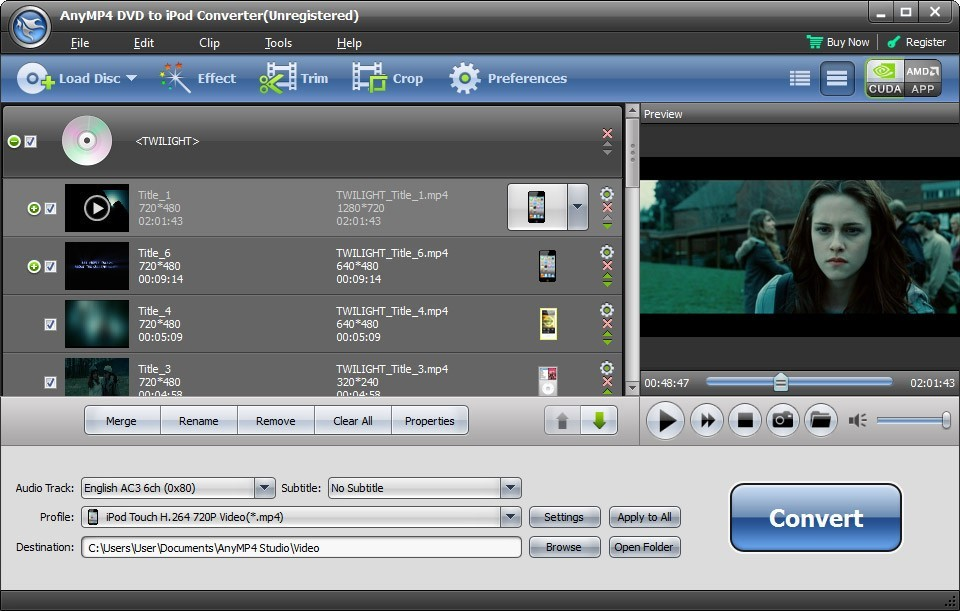 AnyMP4 DVD to iPod Converter 6.1.36