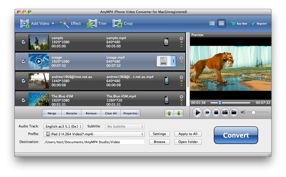 AnyMP4 iPhone Video Converter for Mac 6.1.52