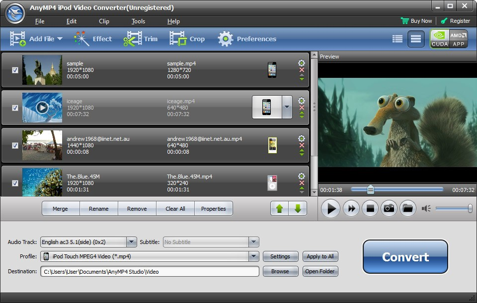 AnyMP4 iPod Video Converter 6.1.52