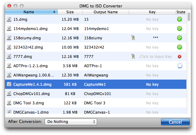 Aolor DMG to ISO Converter for Mac 1.0.0