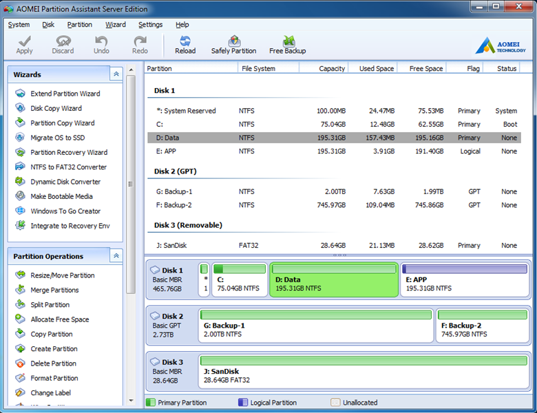 AOMEI Partition Assistant Server Edition 6.3