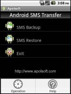 Apolsoft Android SMS Transfer for Mac 3.1