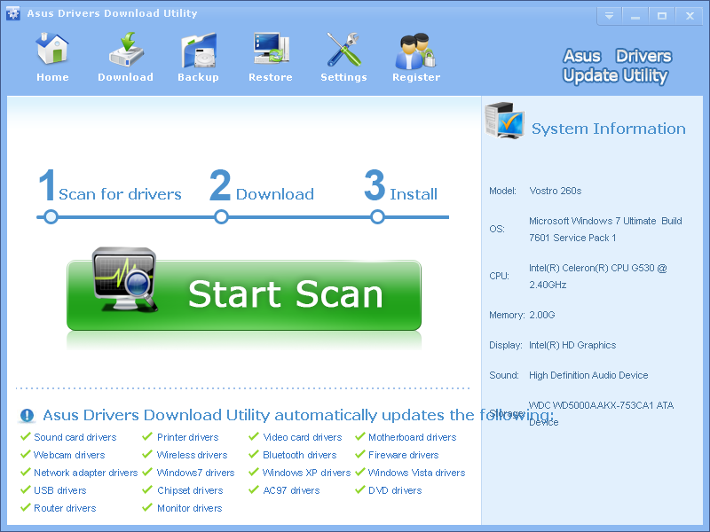 Asus Drivers Download Utility 3.6.7