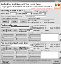 Audio Play And Record OCX 2.0.0