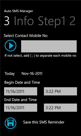 Auto SMS Manager 1.1.0.0
