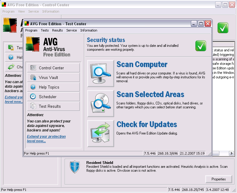 AVG Anti-Virus Free Edition 2014.0.4158
