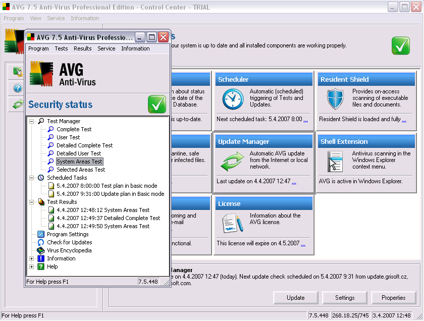 AVG Anti-Virus Professional Edition 7.5.523a 1323
