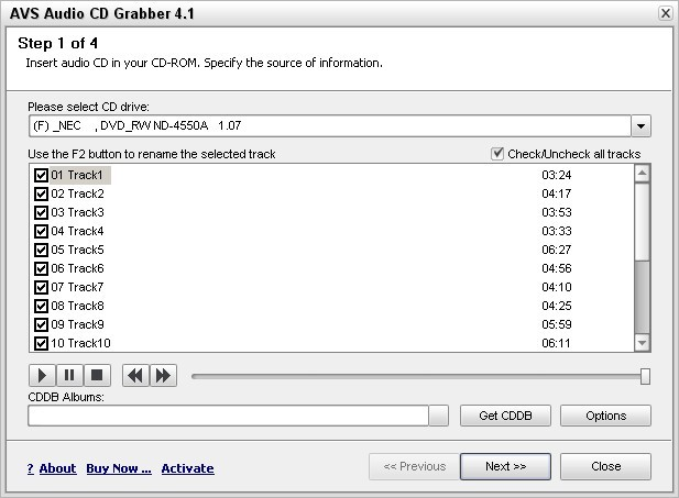 AVS Audio CD Grabber 4.1.1.194