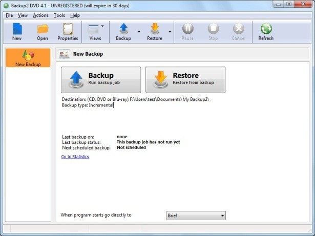 Backup to DVD OEM Backup Software 4.4