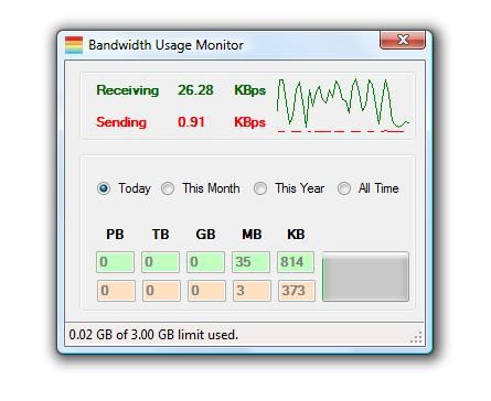 Bandwidth Usage Monitor 1.0