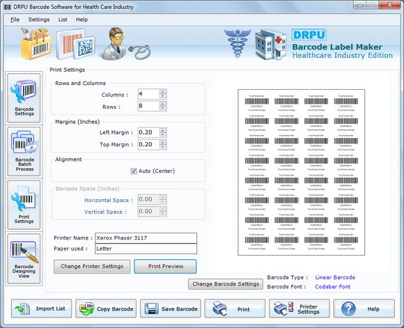 Barcode Printer for Medical Equipments 7.3.0.1