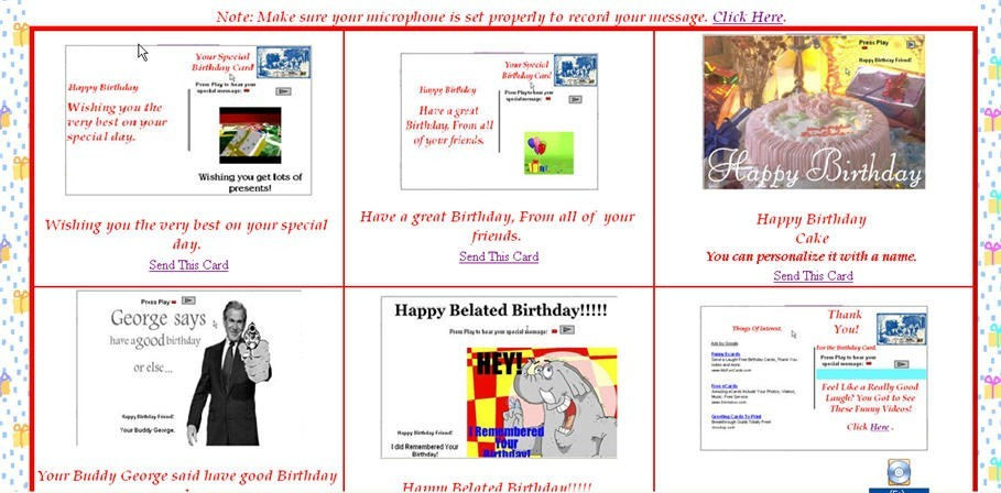 Birthday eCards with Your Personal Voice 1.0