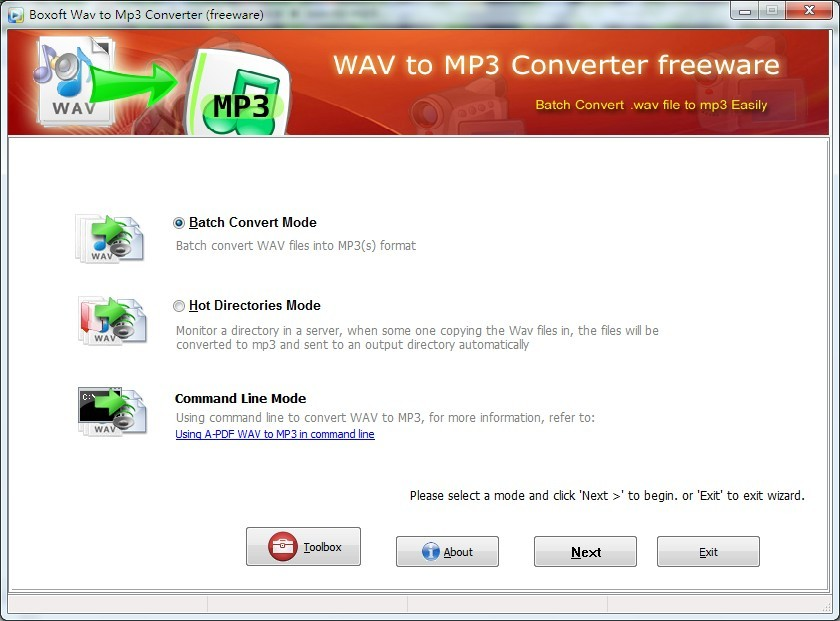 Boxoft WAV to MP3 Converter (freeware) 1.1