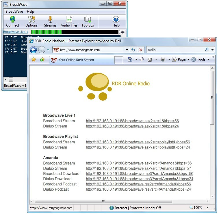BroadWave Streaming Audio Server 1.21