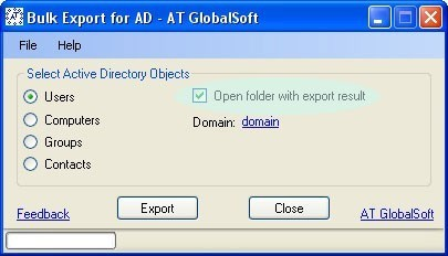 Bulk Export for Active Directory 2.5.9.10