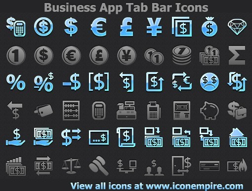 Business App Tab Bar Icons 1.0