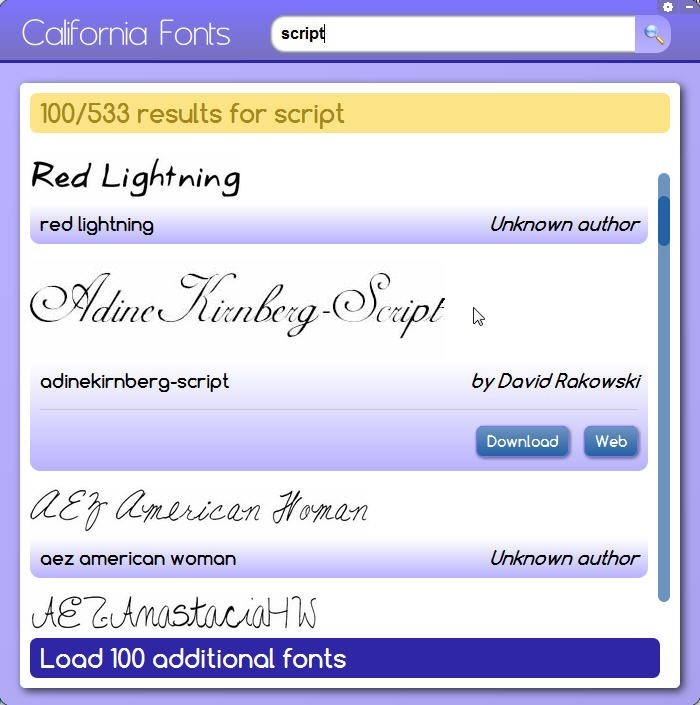 California Fonts Pokki 4.0