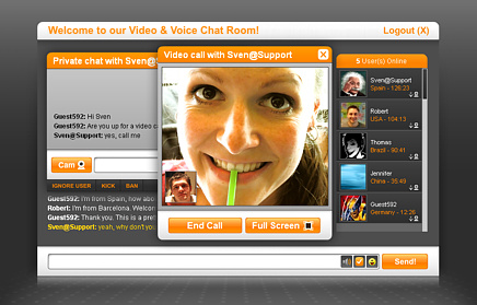 CAMCOM CHAT 5.0 - Website Video Chat Room Script (FREE) n/a
