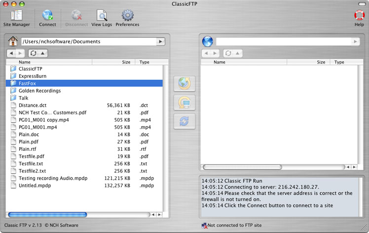 Classic FTP for Mac 2.25